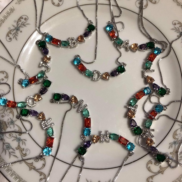 """Jewelry - Initial Necklace Letter""""M"""""""